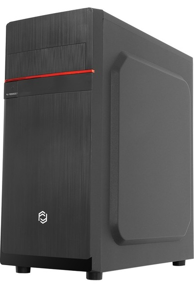 Fribsy FC-2925B 350W USB 2.0 Siyah 12 cm Fan Transparent Panel ATX Midi Tower Kasa Bilgisayar Kasası