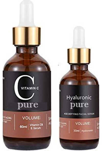 Pure Vitamin C + Hyaluronic Acid Serum