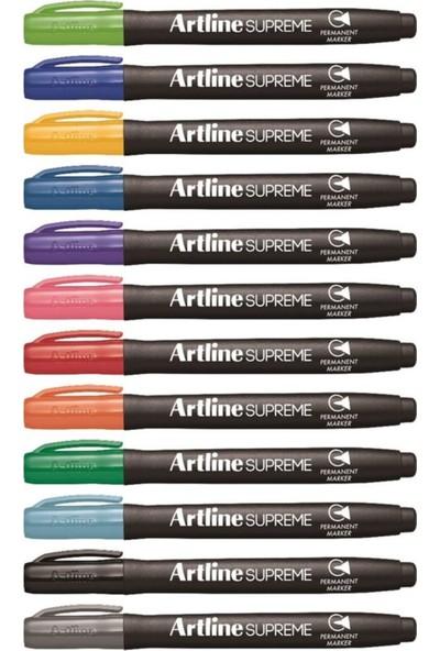 Artline Supreme Permanent Markör Renkler 12'li