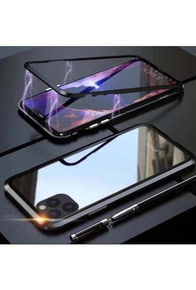 CoverZone One Plus 7 Pro Kılıf 360 Manyetik Kapaklı Klıf Crouch Siyah + Nano Glass