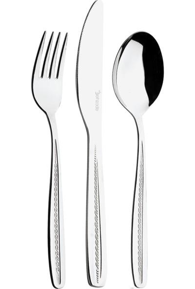 Şehzade 60 Parça Sarmaşık Çatal Kaşık Bıçak Seti