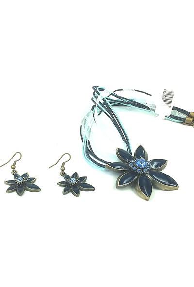 Aphrodite Accessories Yıldız Model Kolye Küpe Set