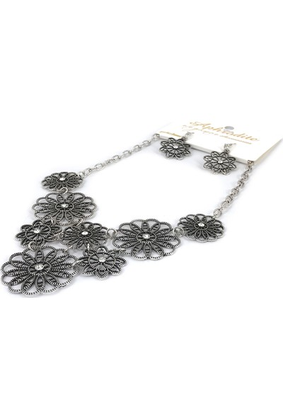 Aphrodite Accessories Metal Kolye Küpe