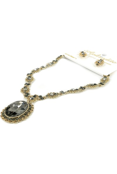 Aphrodite Accessories Krsital Taşlı Kolye