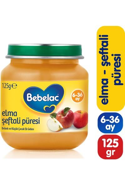 Bebelac Elma Şeftali Püreli Kavanoz Maması 125 gr