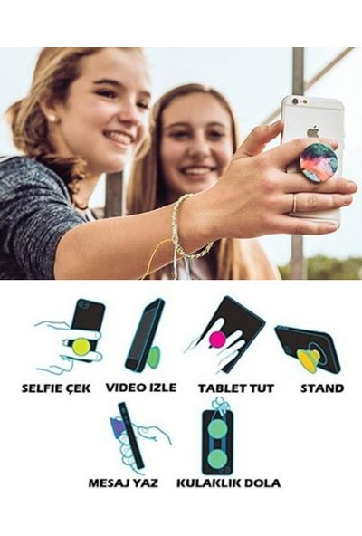Bsb Neon Popsoket Telefon Parmak Tutucu Popsocket Selfi Aparatı PS509