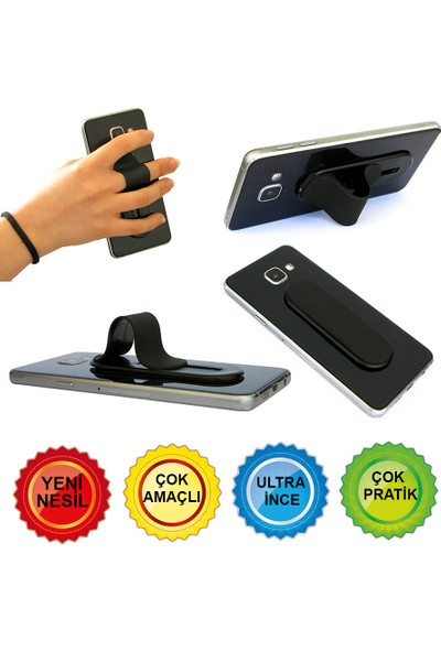Bsb Raysoket Sürgülü Telefon Parmak Tutucu Stand Selfie Aparatı