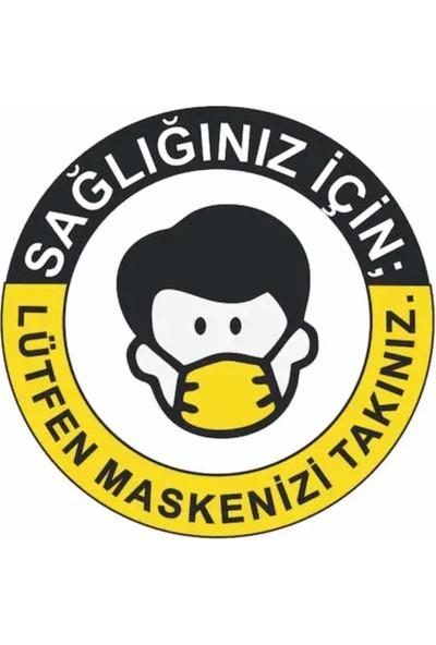 Dmr Maske Takınız Etiketi 25 x 25 cm