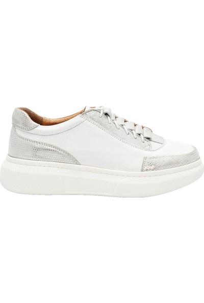 Pelle Tinni Deri Beyaz Casual Ayakkabı