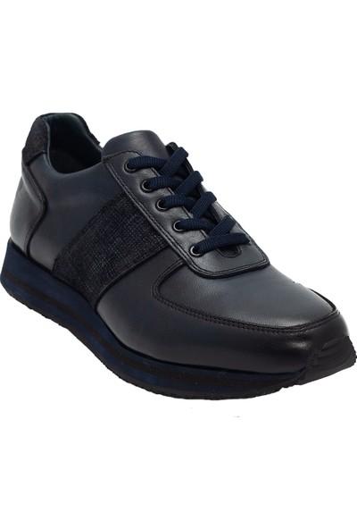Pelle Tinni Deri Lacivert Casual Ayakkabı