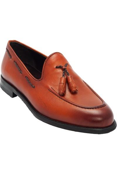 Pelle Tinni Deri Siyah Oxford Ayakkabı