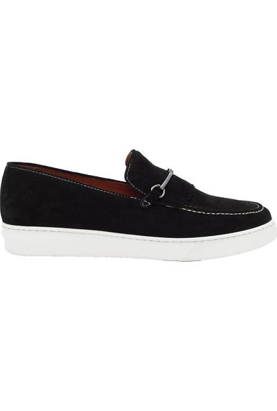 Pelle Tinni Deri Siyah Süet Casual Ayakkabı