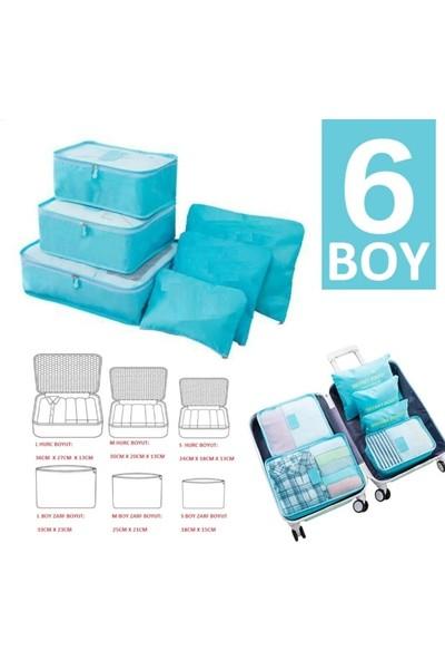 Kumsal Bavul Içi Düzenleyici Organizer 6'lı Set - Mavi