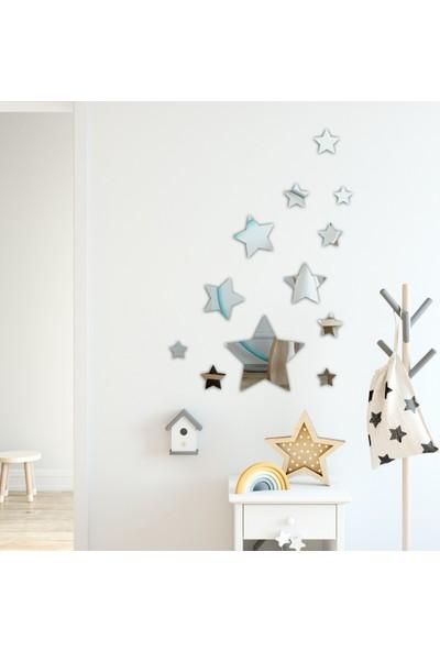 Harika Grup Yıldız Ayna Pleksi Duvar Dekor