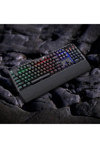 Redragon Indrah K555-1 RGB Mavi̇ Switch Türkçe Oyuncu Klavye