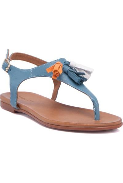 Tergan A.Mavi Deri Kadın Sandalet 64279M40