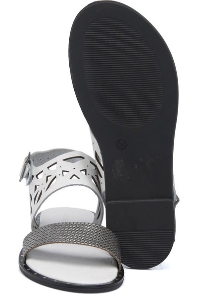 Tergan Beyaz Deri Kadın Sandalet 64536D4Y