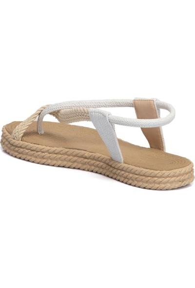 Tergan Beyaz Vegan Kadın Sandalet 210065D93