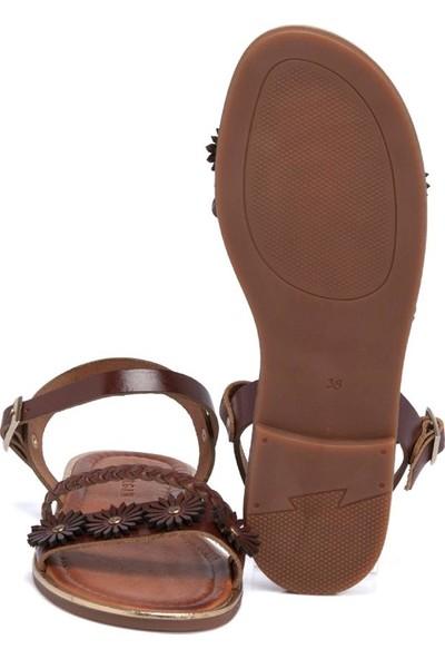 Tergan Kırmızı Deri Deri Kadın Sandalet 64533O7T