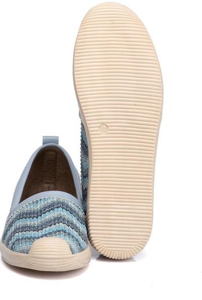 Tergan Mavi Vegan Kadın Ayakkabı 210092D65