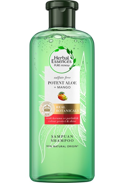 Herbal Essences Sülfatsız Renk Koruma ve Nem Aloe + Mango  Şampuan 380 ml