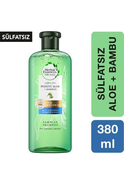 Herbal Essences Sülfatsız 380 ml Aloe Gücü + Bambu Şampuan