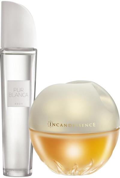 Avon Pur Blanca ve Incandessence Kadın Parfüm Seti