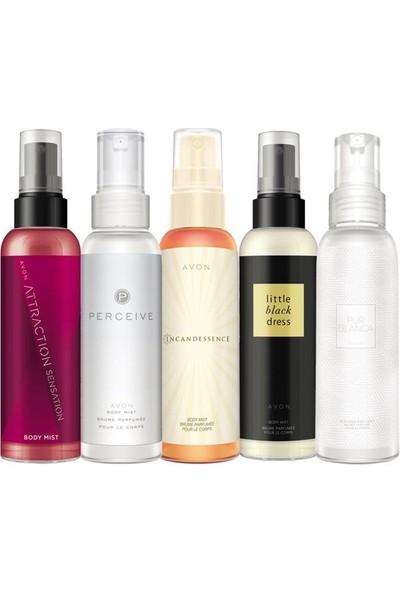 Avon Body Mist Parfümlü Vücut Spreyleri Beşli Paket