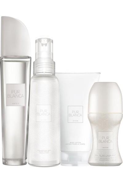 Avon Pur Blanca Kadın Parfüm Losyon Rollon ve Vücut Spreyi Seti