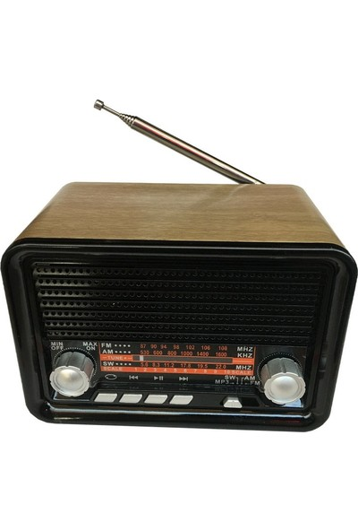 Everton RT-302 Şarjlı Nostaljik Bluetooth Radyo
