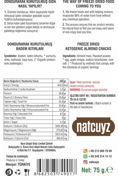 Natcuyz Glutensiz Ketojenik Badem Kıtırı 75 gr 2'li
