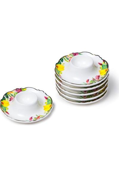 """Lotus Bone Chına Porselen 4.5"""" Yumurtalık Tabağı Seti 6'lı"""