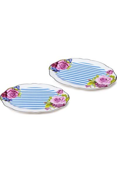 "Lotus Bone Chına Porselen 12"" Ikili Oval Servisi Set"