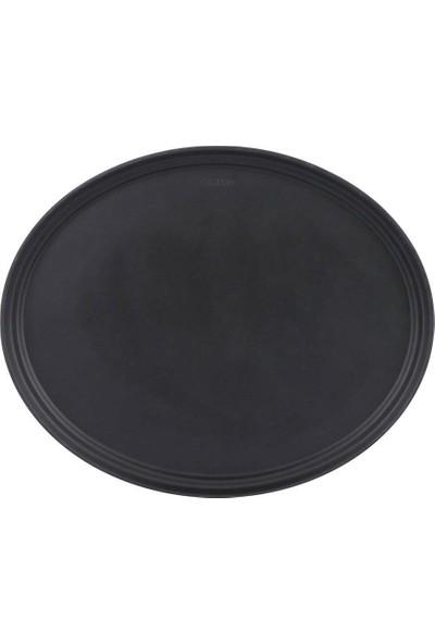 Globy Siyah Yuvarlak Kaymaz Tepsi 35,6 cm
