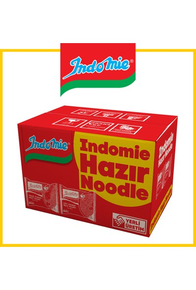 İndomie 40'lı Noodle Paket Karma Koli(Tavuk-Köri)