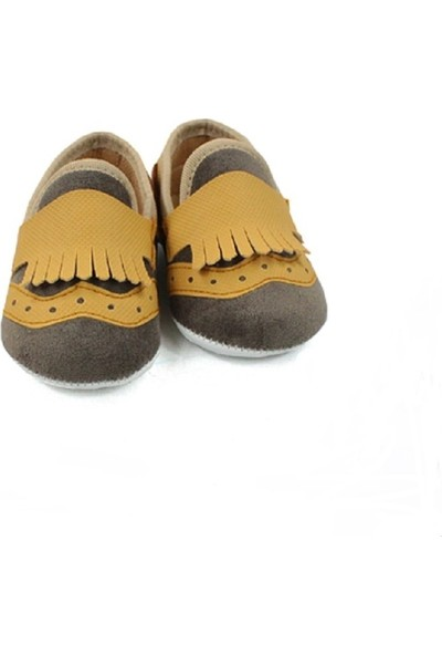 Love Baby Kahverengi Süet Erkek Bebek Ilkadım Ayakkabısı 18 ve 19 Numara