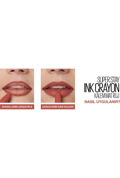 Maybelline New York Super Stay Ink Crayon Kalem Mat Ruj - 15 Lead The Way