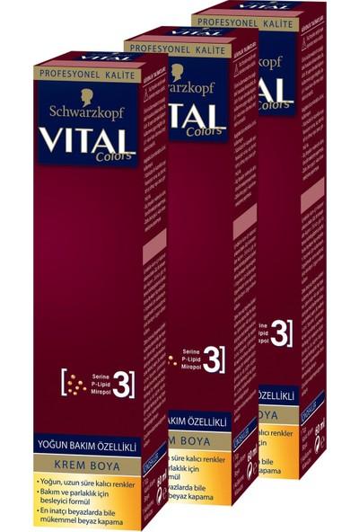 Schwarzkopf Vital Colors Krem Saç Boyası 6-00 Koyu Kumral x 3 Adet