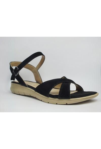 Tria Siyah Süet Sandalet Kadın Ayakkabı 01010336