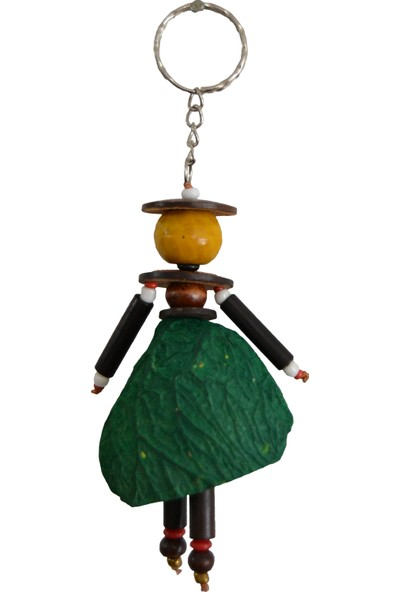 Original Buotique Coconut Sevimli African Anahtarlık