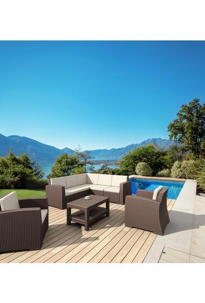 Siesta Exclusive Monaco Lounge Köşe Set Kahverengi