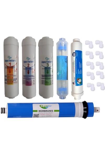 """Aqua Factory 10"""" Inline Filtre Seti + Infread Mineral Filtre"""