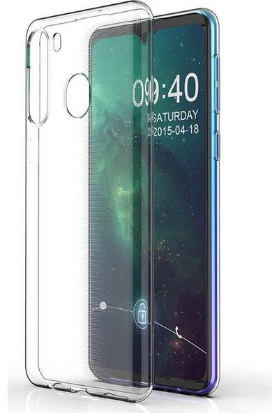 Tekno Grup Samsung Galaxy M11 Kılıf Darbe Emici Süper Silikon Kılıf + Tam Kaplayan 5D Cam Ekran Koruyucu Şeffaf