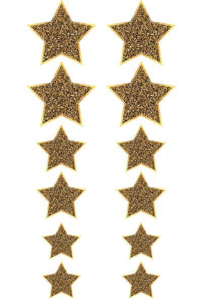 Kullan At Market Altın Yıldız Sticker Set 12'li