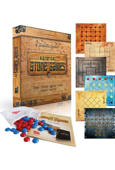 Toli Games Historical Stone Games-4 Tarihi Taş Zeka Oyunu