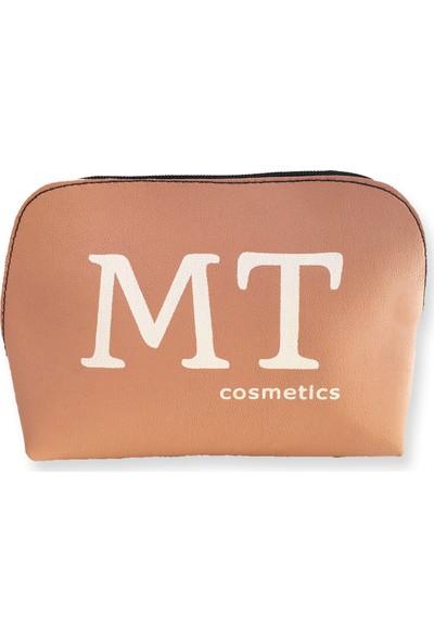 Makeup Time mt Mat Deri Makyaj Çantası Pudra