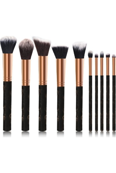 İzla Catrice 10 Lu Makyaj Fırça Seti Siyah Renk