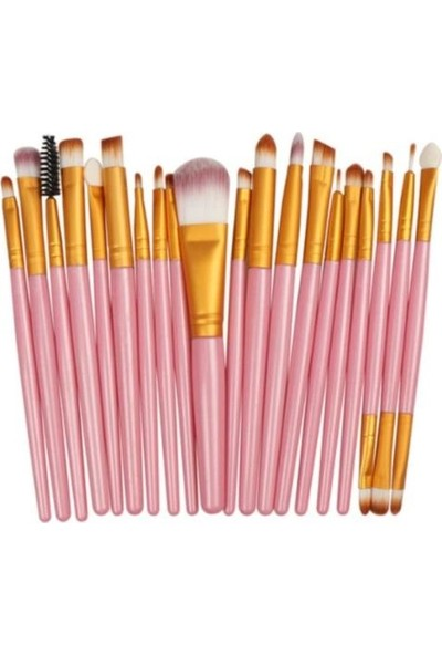 Izla 20'li Profesyonel Yumuşak Makyaj Fırça Seti Pembe Renk