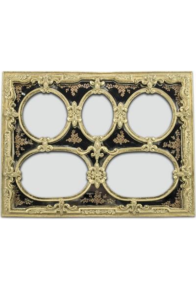 Polyester Çerçeve Gold 34 x 26 cm