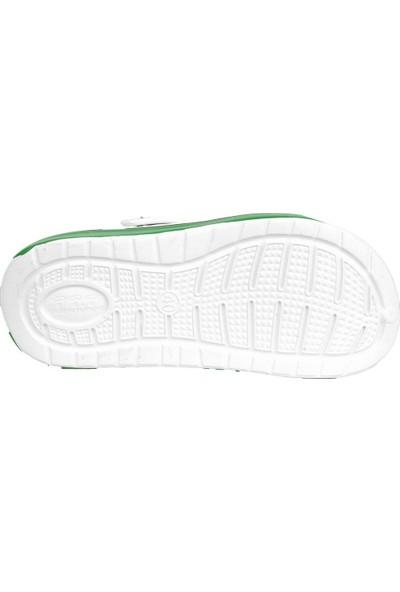 Gezer 12471 Beyaz-Yeşil İş Sandalet Erkek Hastane Terlik